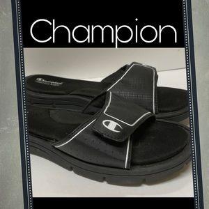 Champion Memory Foam Black Slides Sandals 11